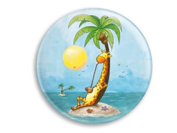 Aimant La girafe en vacances magnet original