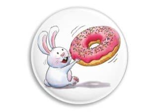 Aimant Lapin et donut magnet original