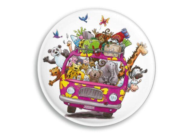 Aimant Le Minibus des animaux magnet original