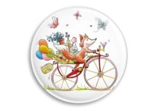 Aimant Le Renard à vélo magnet original