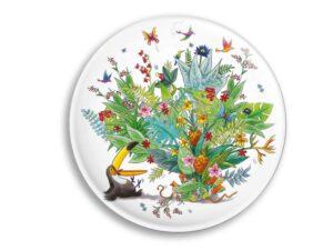 Aimant Le toucan et le bouquet de fleurs tropicales magnet original