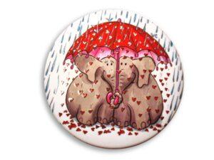 Aimant Les éléphants sous leur parapluie magnet original