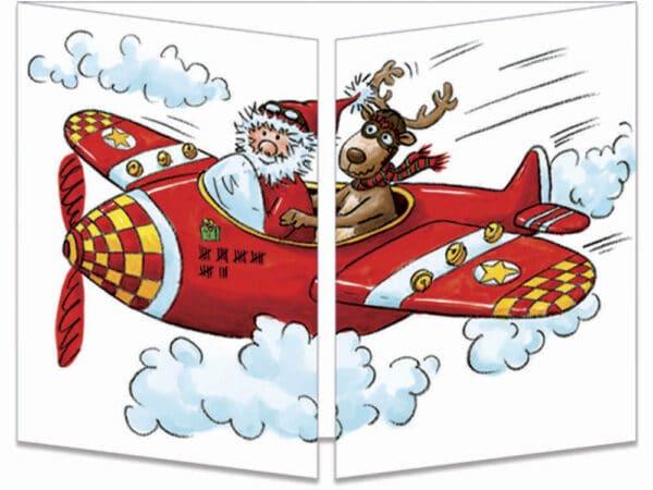 carte postale cache-cache ct129 père noël parachutiste fermée