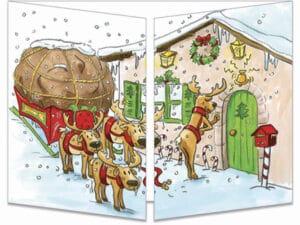 carte postale cache-cache ct137 le père Noël prend son bain fermée