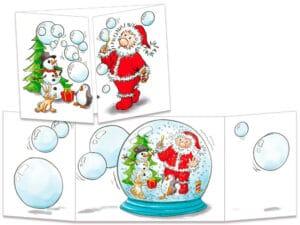 carte postale cache-cache ct138 la boule à neige