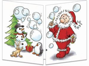 carte postale cache-cache ct138 la boule à neige fermée