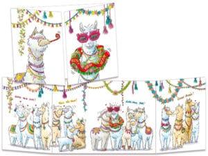 carte postale cache-cache ct152 labonne année des lamas