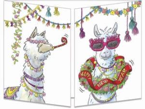 carte postale cache-cache ct152 labonne année des lamas fermée