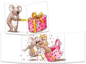 carte postale cache-cache ct223 Koala bisou