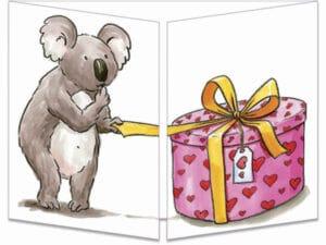 carte postale cache-cache ct223 Koala bisou fermée