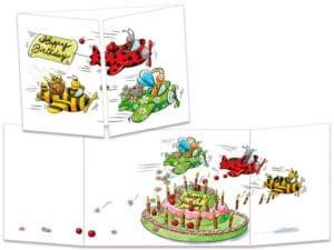 carte postale cache-cache ct243 patrouille d'anniversaire