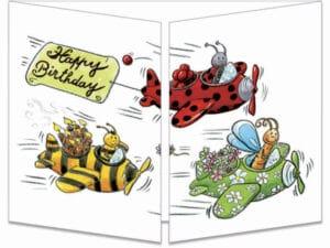 carte postale cache-cache ct243 patrouille d'anniversaire fermée
