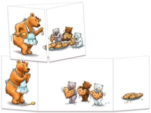 carte postale cache-cache ct260 maman ours