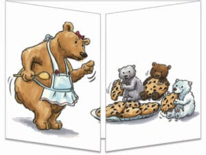 carte postale cache-cache ct260 maman ours fermée