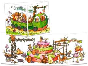 carte postale cache-cache ct262 chantier gâteau