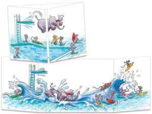 carte postale cache-cache ct263 le plouf d'elephant