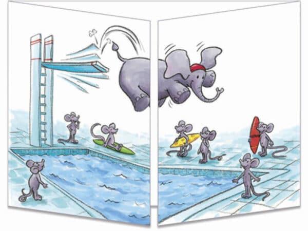 carte postale cache-cache ct263 le plouf d'elephant fermée