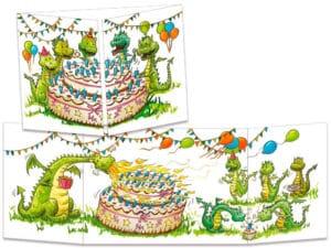 carte postale cache-cache ct265 anniversaire de dragons