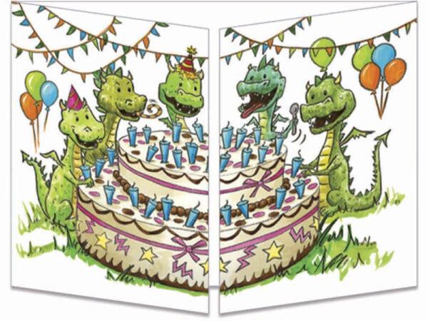 carte postale cache-cache ct265 anniversaire de dragons fermée