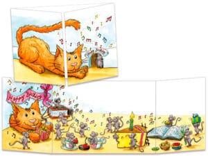 carte postale cache-cache ct269 chat trou de souris