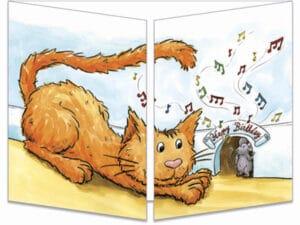 carte postale cache-cache ct269 chat trou de souris fermée