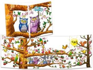 carte postale cache-cache ct272 l'arbre en fête bruyante