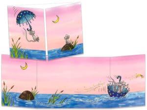 carte postale cache-cache ct273 les souris dans le parapluie