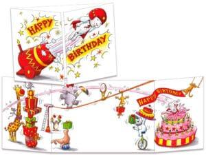 carte postale cache-cache ct275 birthday circus