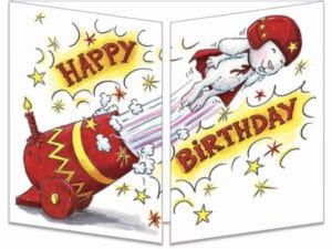 carte postale cache-cache ct275 birthday circus fermée