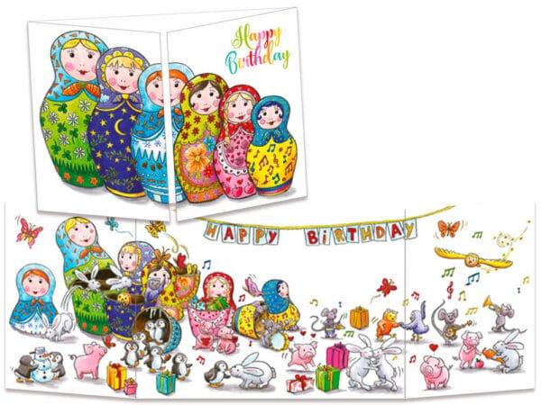 carte postale cache-cache ct276 les poupées russes