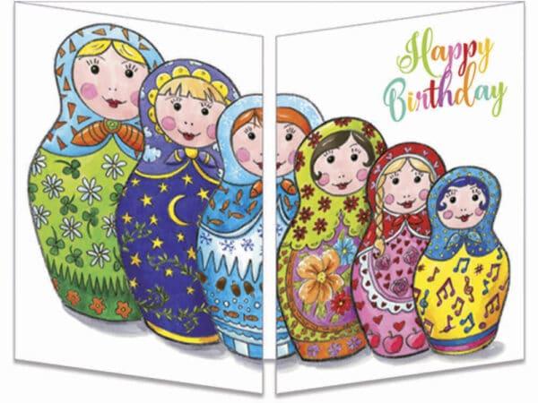 carte postale cache-cache ct276 les poupées russes fermée