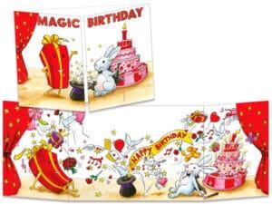 carte postale cache-cache ct277 magic birthday
