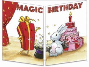 carte postale cache-cache ct277 magic birthday fermée