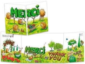 carte postale cache-cache ct280 jardin merci des hérissons