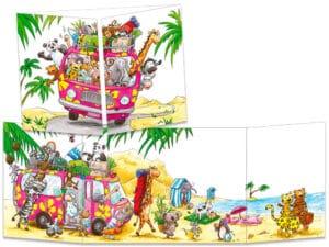 carte postale cache-cache ct281 vacance en combi ww