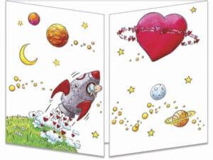 carte postale cache-cache ct286 la planète amour fermée