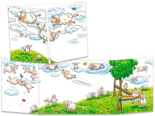 carte postale cache-cache ct287 le lance moutons