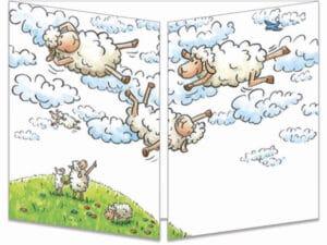 carte postale cache-cache ct287 le lance moutons fermée