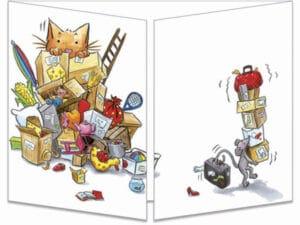carte postale cache-cache ct290 Les souris déménagent fermée