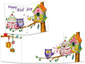 carte postale cache-cache ct292 le coucou d'anniversaire