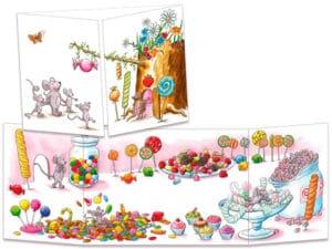 carte postale cache-cache ct293 la grotte aux bonbons