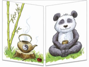 carte postale cache-cache ct294 le panda zen fermée