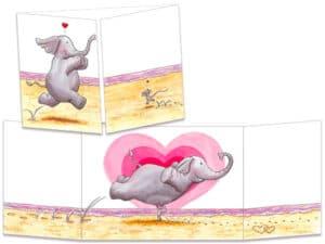 carte postale cache-cache ct296 la souris l'éléphant et le porté de dirty dancing
