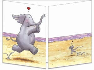 carte postale cache-cache ct296 la souris l'éléphant et le porté de dirty dancing fermée