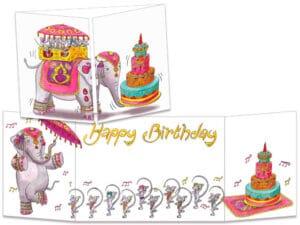 carte postale cache-cache ct298 anniversaire Bollywood