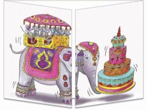 carte postale cache-cache ct298 anniversaire Bollywood fermée