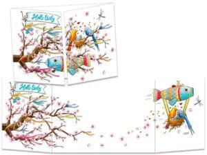 carte postale cache-cache ct302 Hello baby Japon