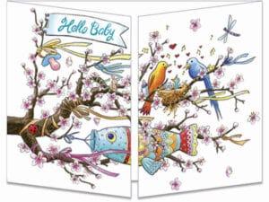 carte postale cache-cache ct302 Hello baby Japon fermée