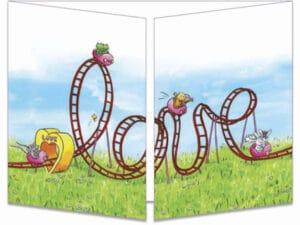 carte postale cache-cache ct306 Le love manège fermée
