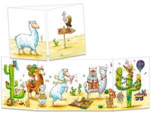 carte postale cache-cache ct310 Fiesta chez les lamas